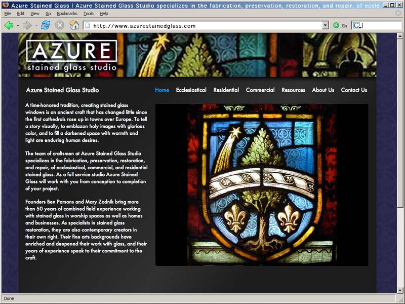 Azure Stained Glass