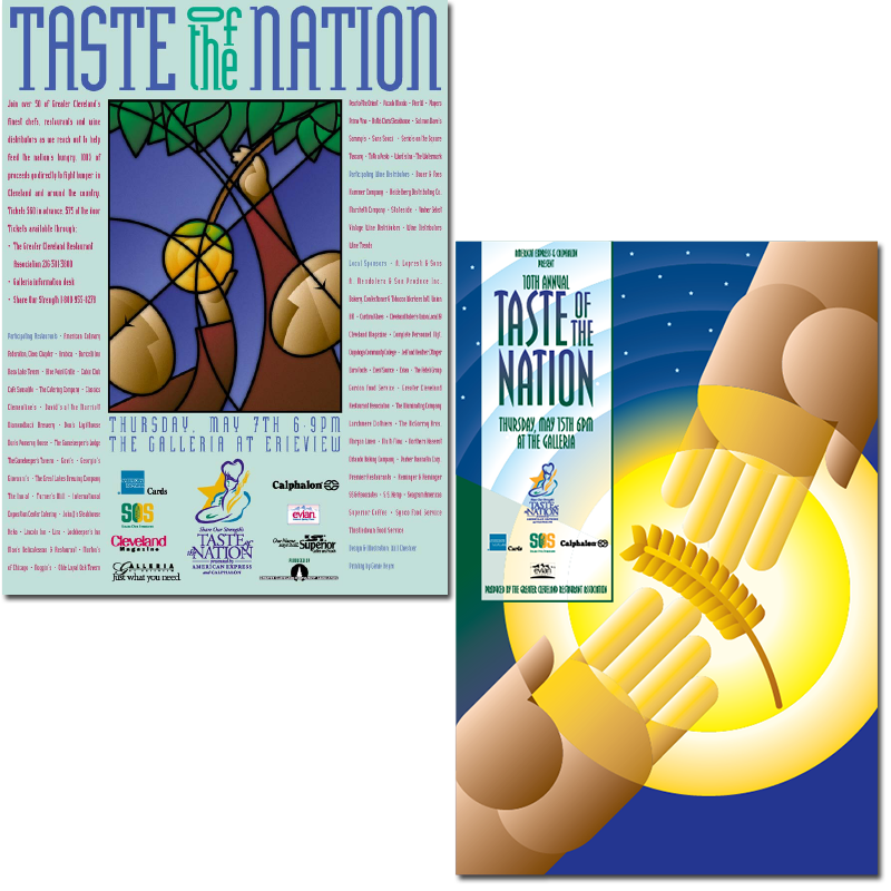 Taste of the Nation posters